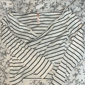 Black and white cross top